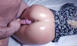 Hot oil ass be thrilled by added to spunk fountain on the top of pussy, 4k (ultra hd) - alena lamlam