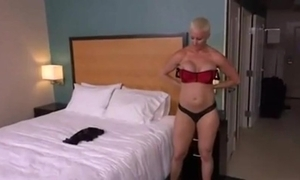 Abrupt haired tow-haired milf anal pov
