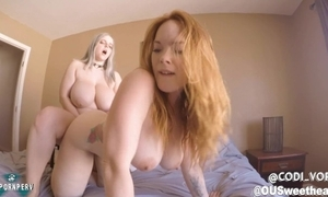 Summer hart & codi vore strap-on fucking