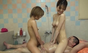 Japanese rub down with two cuties