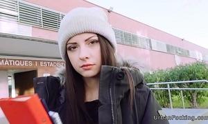 Nasty italian legal age teenager fucks backwards trainer