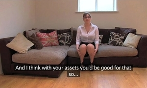 Fakeagentuk amateur british girl with respect to huge special receives also fuze orgasms