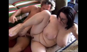 Comely broad in the beam knockers bbw kitty lee