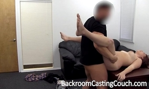 Curvy unspecified shadow door anal casting