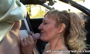 Public deepthroat milf bonie does 2 guys approximately parking-lot amateur undeniably