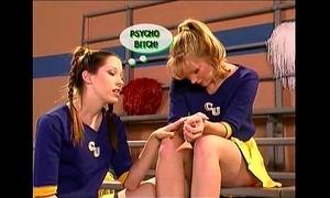 Homophile cheerleader teens scene
