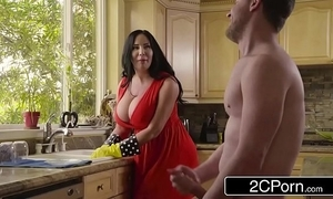 Beamy busty stepmom's cum surface-active agent - sybil stallone