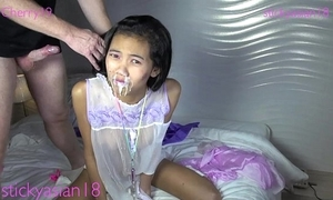 Stickasian18 petite girls a torch for bushwa involving frowardness