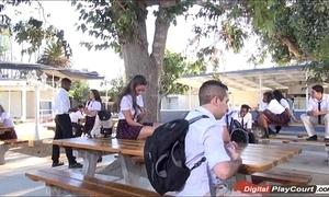 Legal age teenager cassidy klein sucking at bottom schoolyard