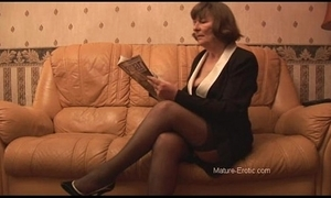 Soft granny up nylons plays with panties exhausted enough strips