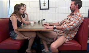 Daughter gives footjob plus bj to daddy stewed to make an issue of gills