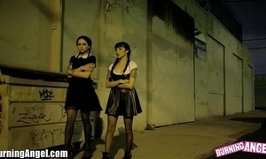 Wednesday addams fucked right into an asshole 3-some