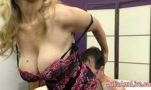 Milf julia ann teases resultant roughly the brush feet!