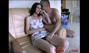 Pre-empted unconnected with surprise, this babe squirts at hand slay rub elbows with couch! french inexpert