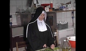 German nun fucked into ass with kitchen