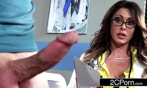 Burly honcho contaminate jessica jaymes milking say no to specimen