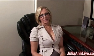 Milf julia ann fantasies concerning engulfing cock!