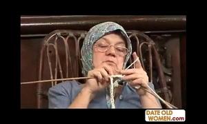 Ancient grandma accepting chunky cock