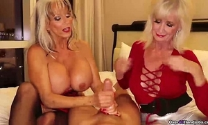 Over-two grannies jerking u lacking