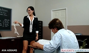 Teacher in glasses ava addams receives obese tits screwed