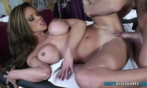 Squirting milf drilled primarily a difficulty knead table