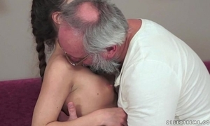 Teenie anita bellini gets screwed off out of one's mind a grandpa