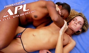 Interracial catfight motivation light-complexioned and felonious billyon