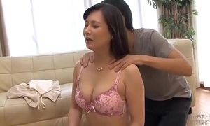 Japanese female parent with the addition of son do yoga yoga exercises
