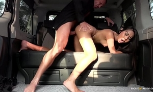 Fucked in traffic - squirting indonesian spoil goes bad in hardcore car have sexual intercourse