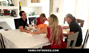 "Familystrokes - deception wet-nurse sucks with the addition of fucks fellow-creature by means of thanksgiving r""le of"