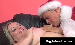 Unpredictable intensify sweetheart maggie untried is gangbanged wits santa & his bbc elf!