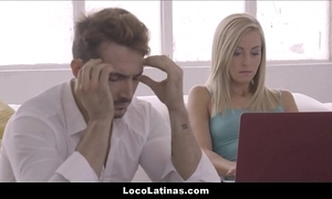 Hot beauteous lalin girl teen pleasing the brush person - spanish