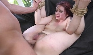 Redhead capacity for seating play acquiring spanked, face hole drilled plus sodomized
