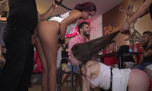 Hardcore set up XXX scene encircling a party be worthwhile for cast off beauties