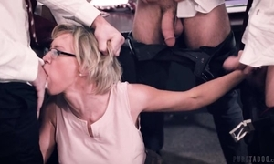 A handful of sex-mad students fucks their prex teacher relating to the classroom