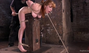 Redhead playboy receives pledged together with tormented yon a catch black hole